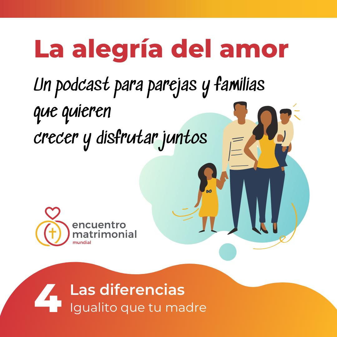 Caratula del cuarto podcast de La alegria del amor de Encuentro Matrimonial